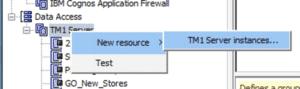 Add new TM1 Model/TM1 Server to Cognos Configuration.